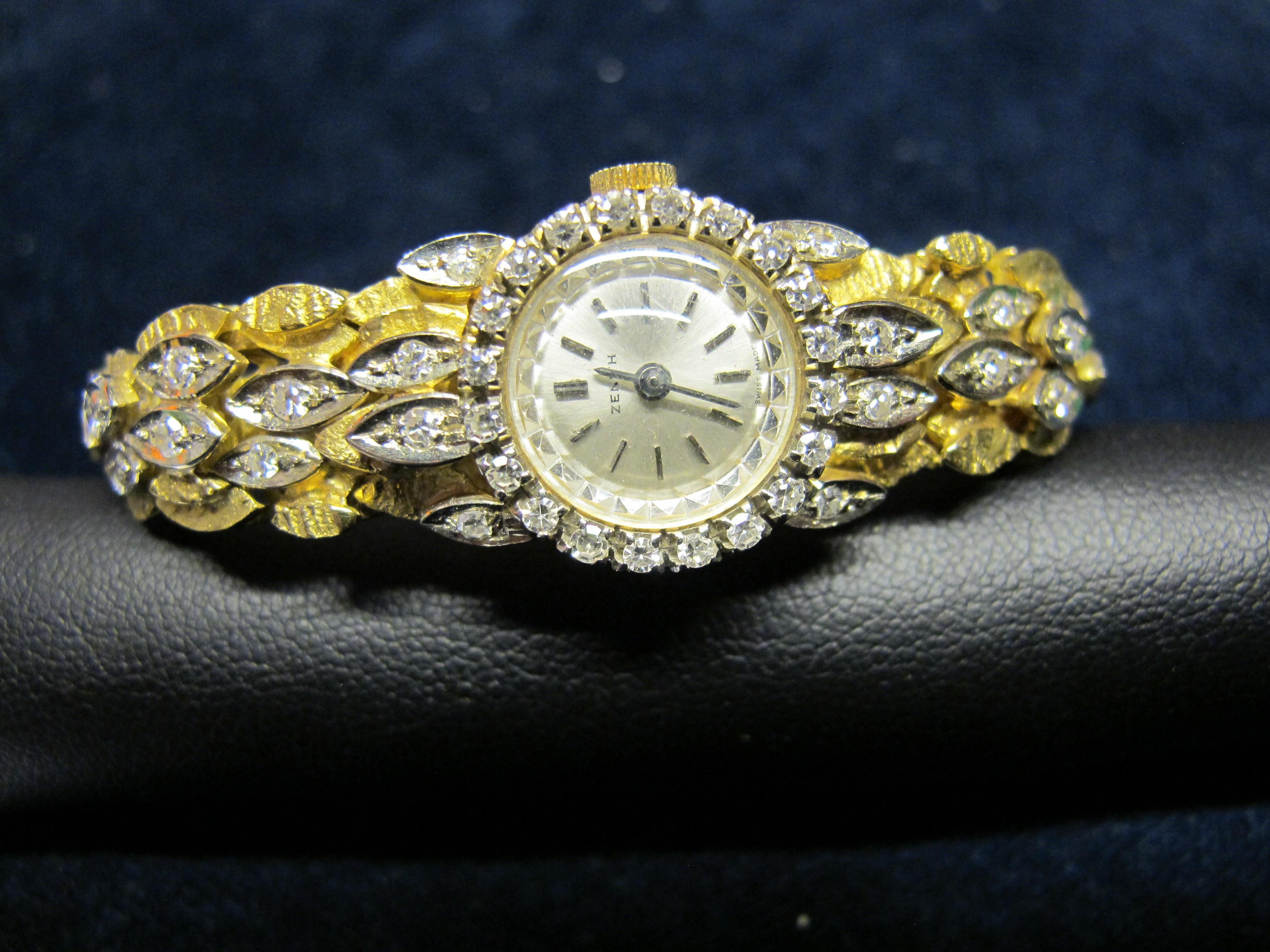 3 orologio donna oro giallo con diamanti
