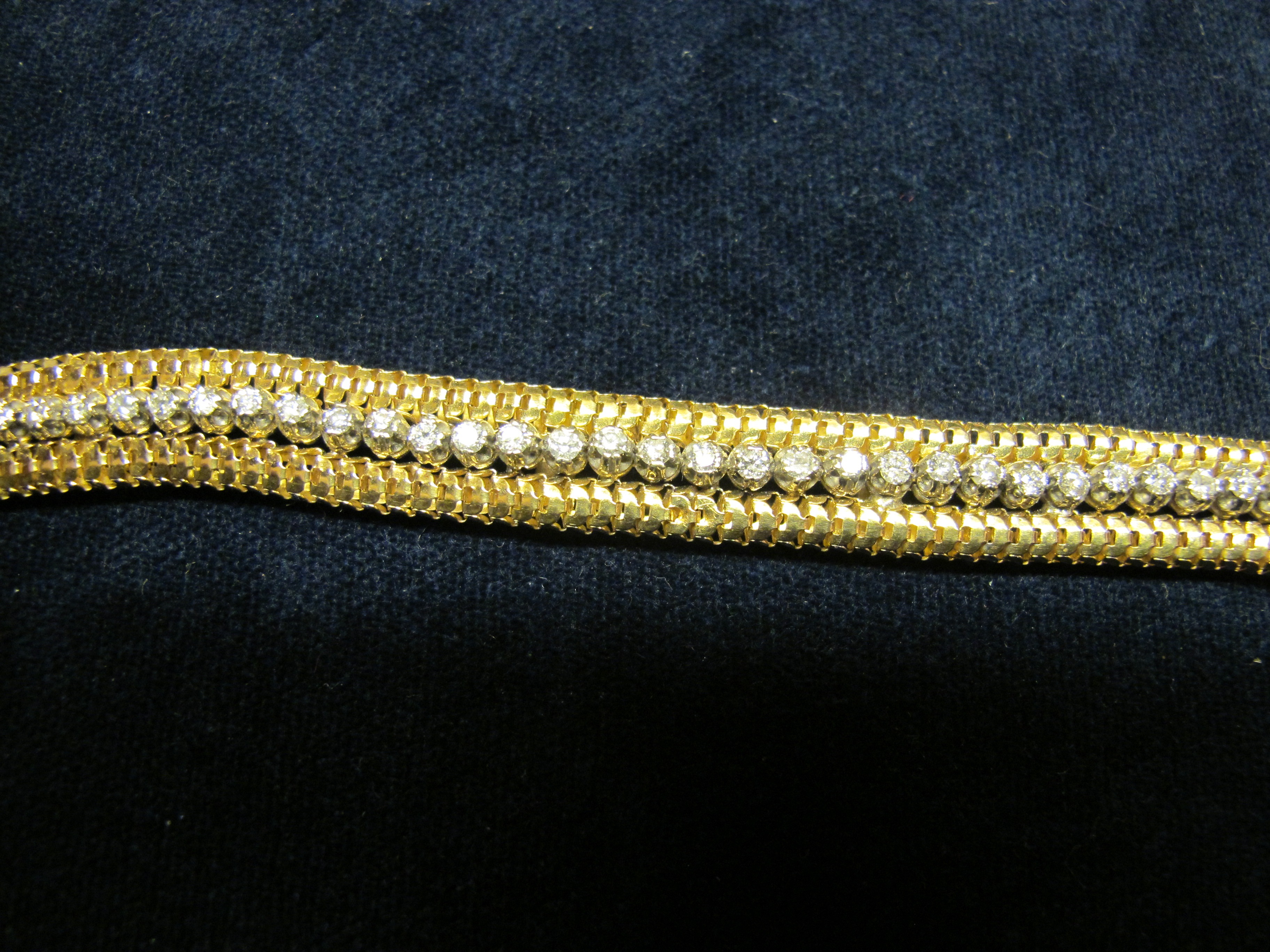 bracciale oro giallo e diamanti