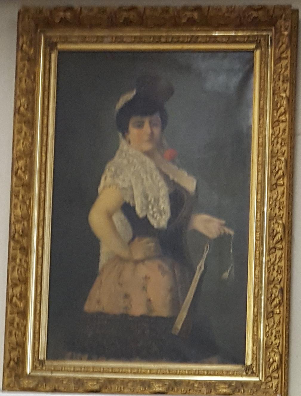 dama con ventaglio