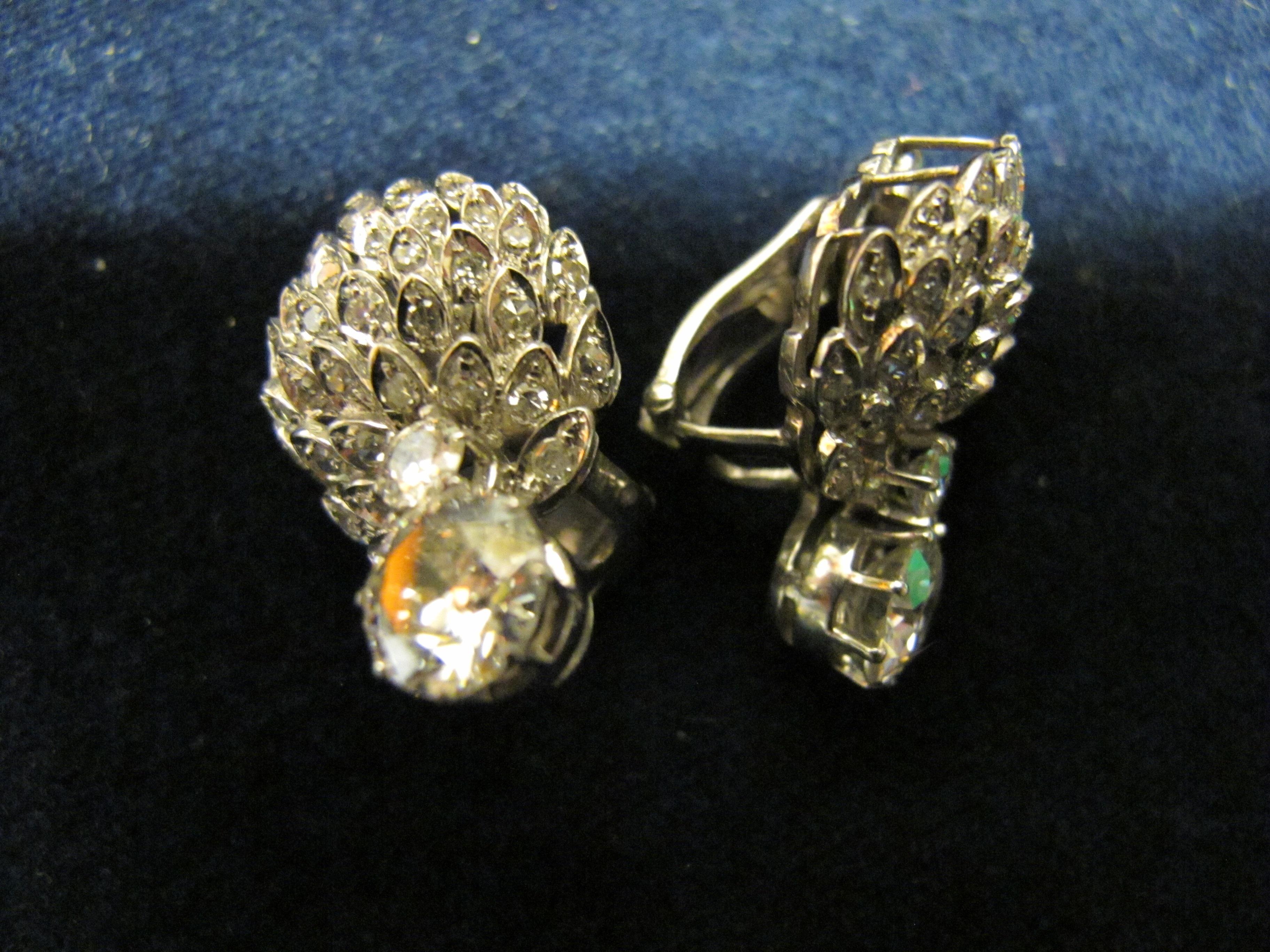 orecchini  diamanti  a clip