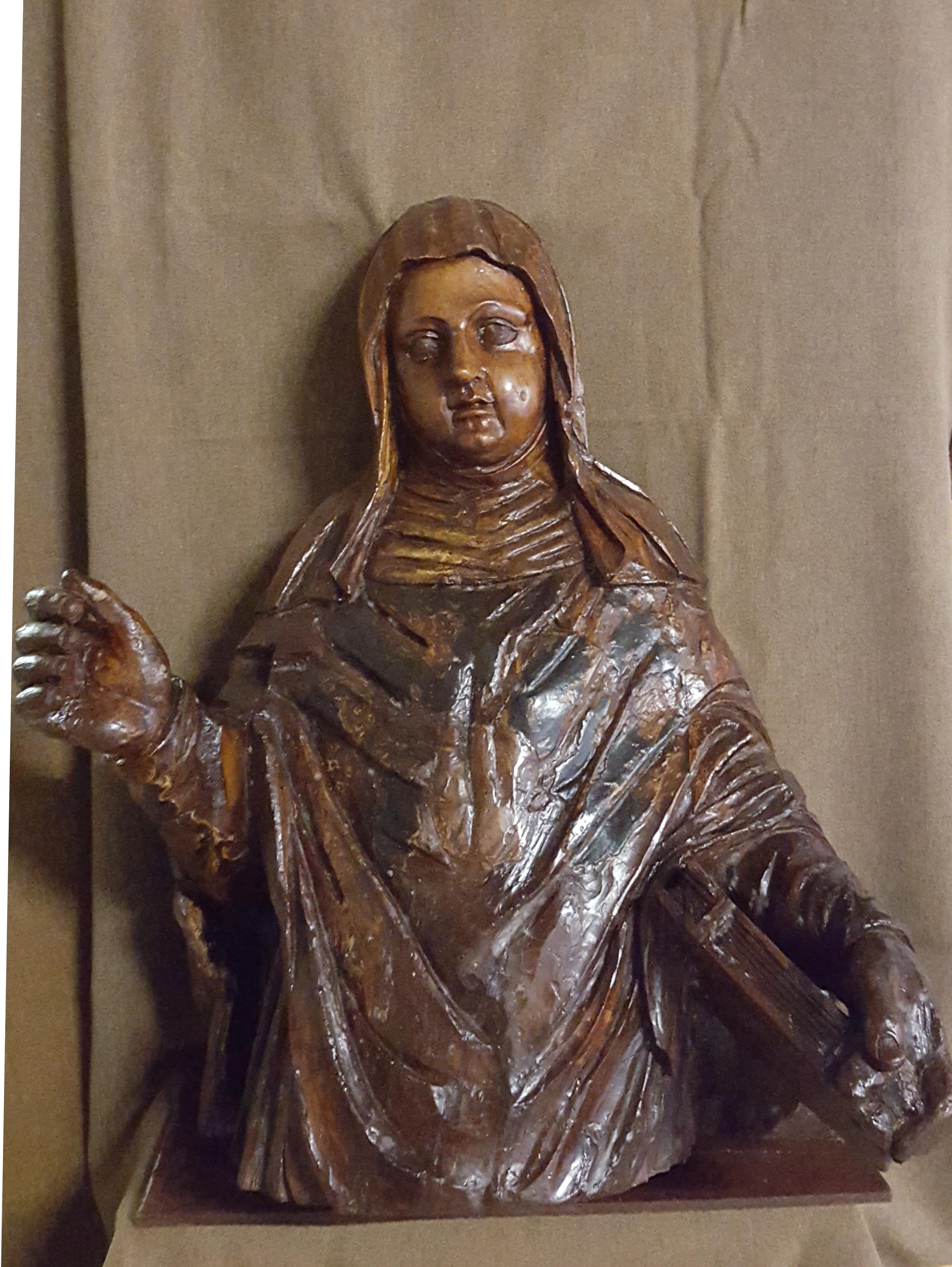 32 scultura legno Santa Caterina da Siena
