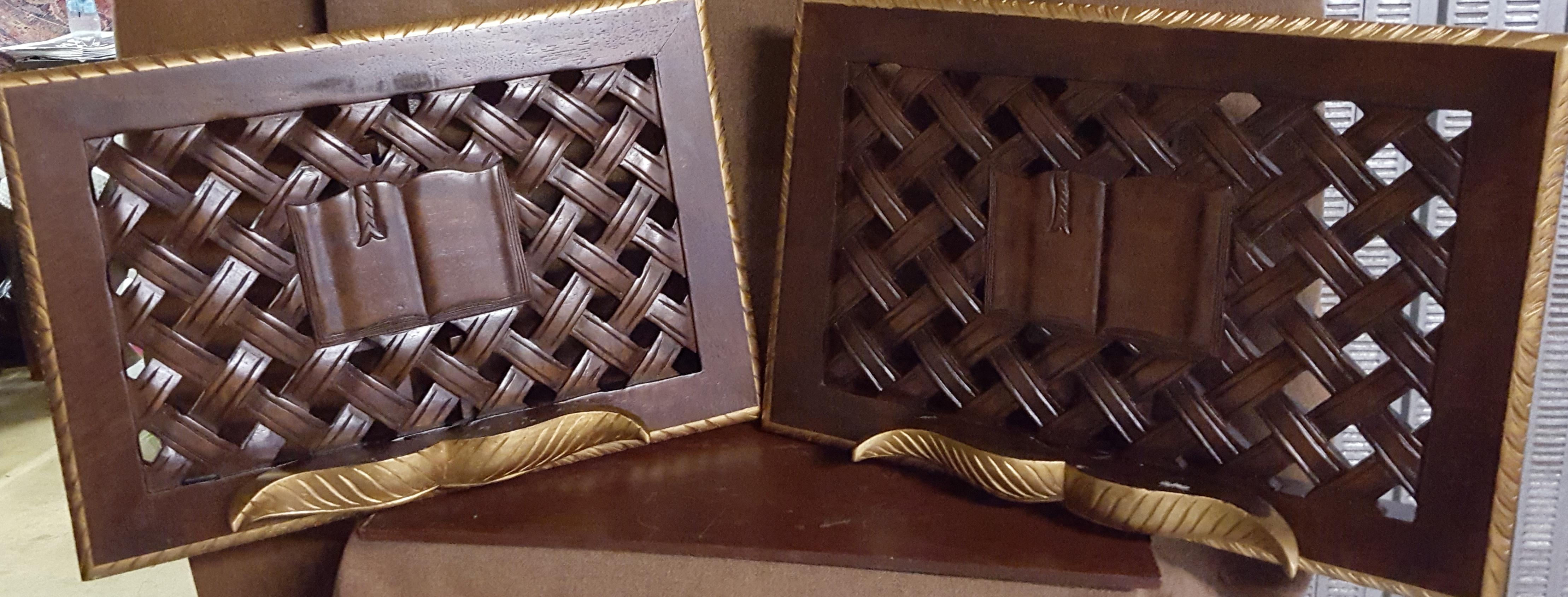 35 leggio in legno coppia